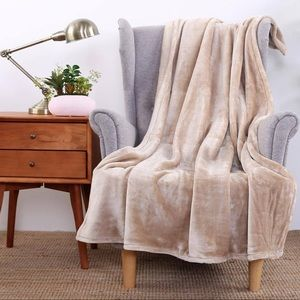 Cream Throw Blanket